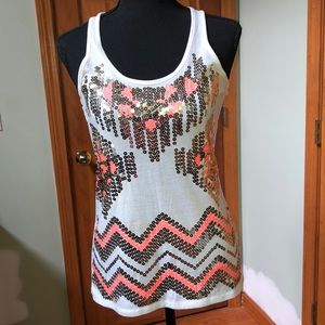 Almost Famous Sequined Tank Top